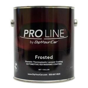 Pro Line Frosted Clear Peelable Thermoplastic Lacquer Coating 1 Gallon