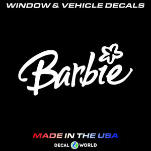 Barbie Girl Decal Car Window Toolbox And Laptop Sticker
