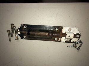Vintage Antique Metal Slide Latch Barrel Dead Bolt Door Lock 3