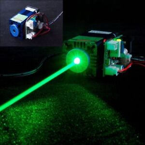Focusable 12v 520nm 100mw Dot Laser Module Grass Green Stage Lights Fan Cooling