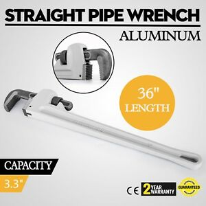 36 Aluminum Straight Pipe Wrench Plumbing Jaw Great Operational Feeiciency