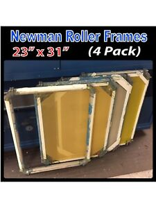 Newman Roller Frames 23 X 31 4 pack Bulk Lot Silk Screen Frames