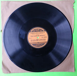 1940 Plymouth Chevrolet Ford Dealer Record Big 3 Promo 33 1 3 Rpm Chrysler