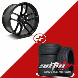 20 Flow Forged Style Staggered Wheels W Tires Black Fits Dodge Charger 24 Lbs