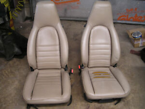 Genuine Porsche 944 911 Beige Seats Power Driver Manual Passenger