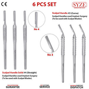 3pcs Set Of Scalpel Handles 3 4 Without Blade Save 20 Oral Surgery Tools Ce