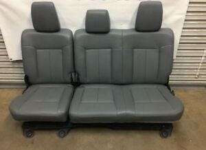 1999 2016 Ford F250 F350 F450 Super Duty Rear Seats Gray Vinyal