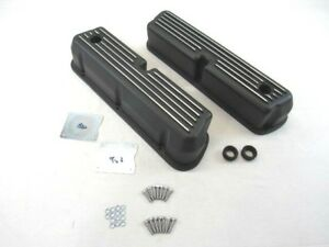 1962 1990 Small Block Ford 5 0l 289 302 Aluminum Valve Covers Black Bpe 2202b