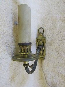 Vintage Brass Finish Church Sanctuary Wall Light For Restoration