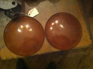 Bb 6 Antique Car Ford 4 5 Yellow Light Round Concave Lens Pair