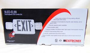 Exitronix Emergency Exit Sign Lightingtermoplastic Led Combo Vled el90