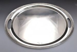Large Heavy Wallace Sterling Silver Oval Serving Or Tea Set Tray