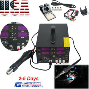 4in1 Electric Hot Air Gun Unit Soldering Rework Station Welding Solder Machine