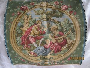 French Tapestry Fabric Piece No Border 20 X 20