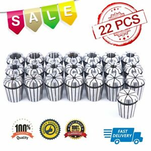 Er32 Collet Set 22pcs 1 8 25 32 By 16th 32nd For Cnc Engraving Machine Tools