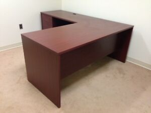L shape Desk Hon By Office Furniture Shop In Mahogany Color 350