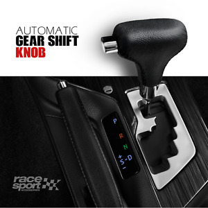 Hand Stitched Gear Shift Knob Universal Fit For Automatic Car Black Leather