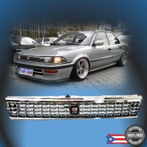 88 92 Toyota Corolla Ae90 Ae92 93 94 Front Chrome Grille Grill Jdm Style E90 Ee9