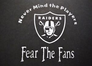 Fear The Fans Oakland Vinyl Decal For Laptop Windows Wall Car Boat
