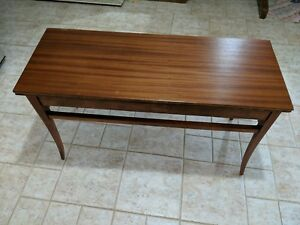 Mahogany Piano Organ End Of Bed Bench Lift Seat Storage Refinished Antique