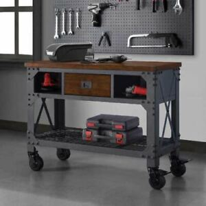 Whalen 48 Metal Wood Work Bench Tool Storage Steel Workshop Table W Drawer