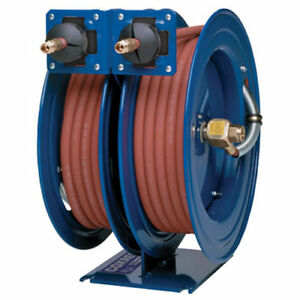 Dual Purpose Spring Rewind Hose Reel For Grease hydraulic Oil 3 8 I d X 30