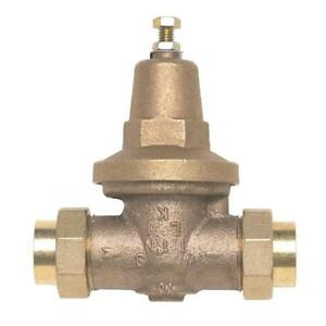 Zurn wilkins 1 In Lead free Water Pressure Reducing Valve Double Union Copper