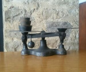Vintage Cast Iron 16oz Counter Top Store Balance Scale