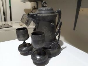 Vintage Barbour Silver Co Coffee Urn With Stand And Cups 2303 Nice Decor