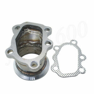 Downpipe 5bolt 2 5 V Band Flange Adapter Stainless For Gt25 Gt28 T25 T28 Turbo
