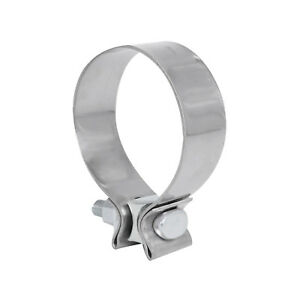 3 Genuine T409 Stainless Steel Narrow Band Exhaust Clamp New
