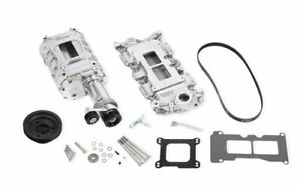 Weiand 6508 1 142 Series Supercharger Kit 1962 68 Small Block Chevy Short Nose 6