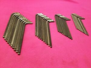 Lot Of 40 Metric 5 6 8 10mm Hex Allen Wrench L shaped Long Arm Ball End Usa Made