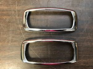 1941 Plymouth Tail Light Lamp Bezels Trim Pair Nos 119