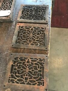 Rl 13 3 Av Price Each Antique Cast Iron Heating Grate Face 7 5 8 X 9 5 Rusty