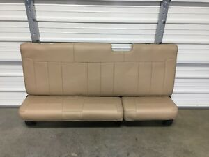 1999 2016 Ford F250 F350 Super Duty Extended Cab Rear Seat Tan Leather