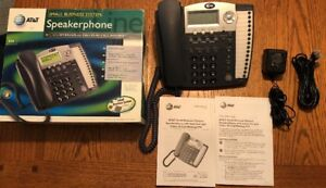 At t 974 4 line Small Business System Office Phone Complete In Box Light Use
