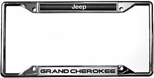 Jeep Grand Cherokee License Plate Frame Chrome
