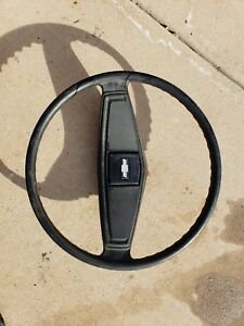 1973 1977 Chevy Truck Steering Wheel And Horn Button 9754696 Black Chevrolet