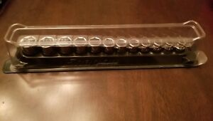 Snap On 3 8 Drive 8 19mm Short 6 Pt Socket Set With Magnetic Tray
