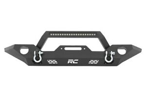 Rough Country Front Full Width Led Bar Winch Bumper For 07 18 Jeep Wrangler Jk