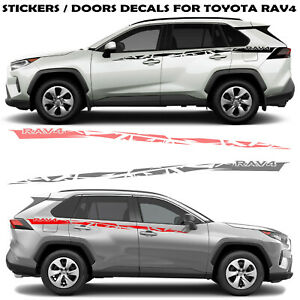 Graphics Racing Line Sticker Kit Car Side Vinyl Stripe For Toyota Rav4