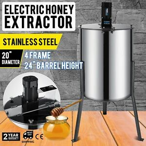 4 8 Frame Beekeeping Equipment Large Stainless Steel Electric Honey Extractor Us