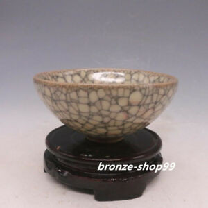 Chinese China Folk Song Dynasty Guanware Crackle Porcelain Tea Bowl