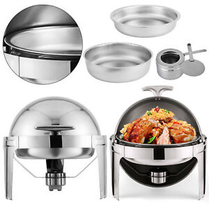 2pcs Chafing Dish Pans 6 Quarts 6 8 L Stainless Steel Food Warmer Top Chafer