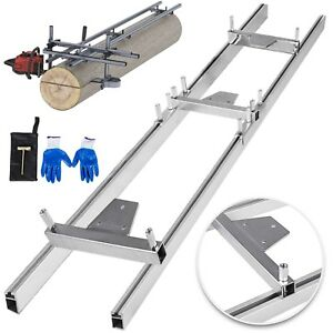 Chainsaw rail Mill Guide System 5ft 1 5m 2 Reinforce Jungle First Cut Gloves
