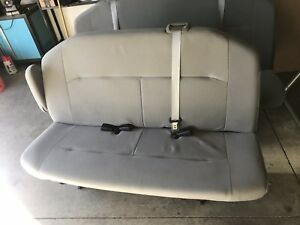 Econoline 2009 Van Bench Seats Gray Cloth Three Rows And Brackets sc