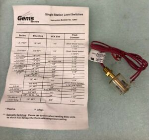 Gems Sensor Series 1700 Level Switch