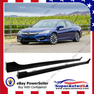 Fit For 13 2017 Honda Accord 4 Door Mod Style Side Skirts Body Kit Black Jdm Vi