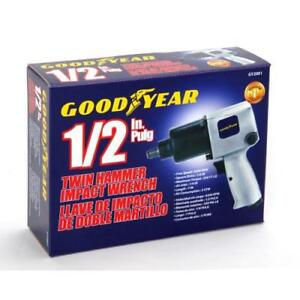 Goodyear 1 2 In Plug Twin Hammer Impact Wrench Includes 10 Sockets 1 Extension